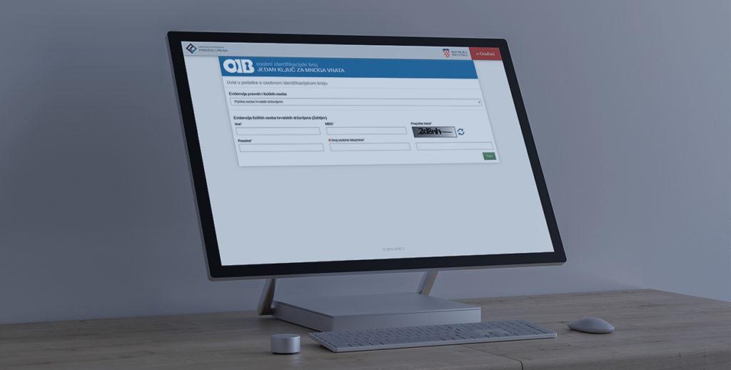 Uvid u podatke o OIB