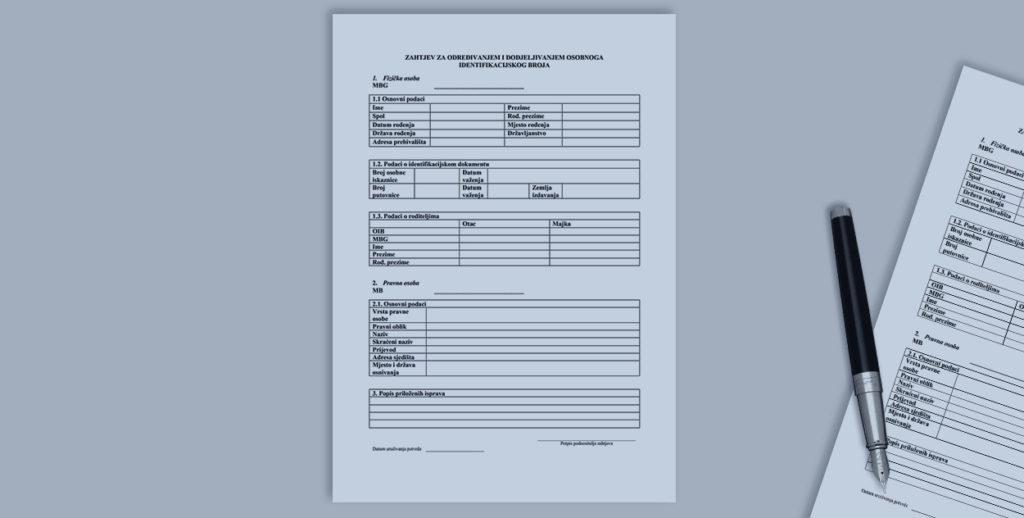 OIB za strance zahtjev obrazac